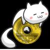 お金と猫のイラスト